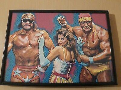 345 Wwf Wwe Macho Man Randy Savage Miss Elizabeth A4 Poster Art ...