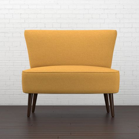 Cureton 37 Armless Settee Yellow Accent Chairs Leather Dining