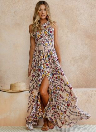 b0e7ebf71d771 Rayon Floral Sleeveless Maxi Casual Dresses (1049351) @ floryday.com ...