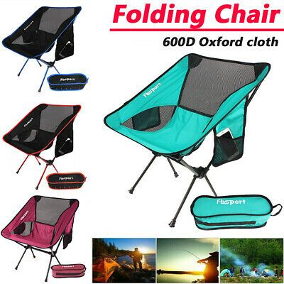 Lightweight Chair Folding Portable Chair Camping Chair Outdoor Fishing Seat UK