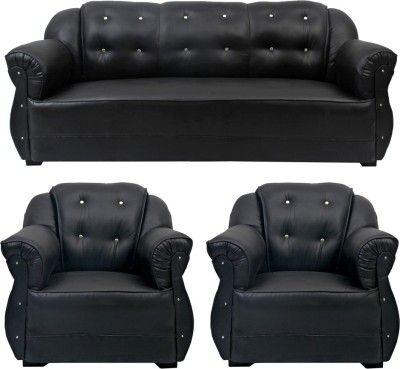 Homestock Leatherette 3 1 1 Brown Sofa Set Configuration Straight Sofa Set Price Black Sofa Set Brown Sofa Set