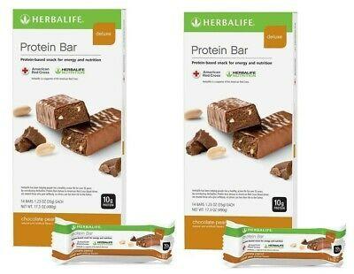 Sponsored X2 Herbalife Protein Bar Deluxe Chocolate Peanut 14 Bars Per Box Free Shipping Herbalife Protein Herbalife Protein Bars Herbalife