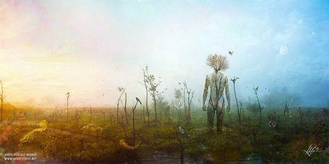 Internal Landscapes, surreal illustration by Mario Sánchez Nevado - ego-alterego.com