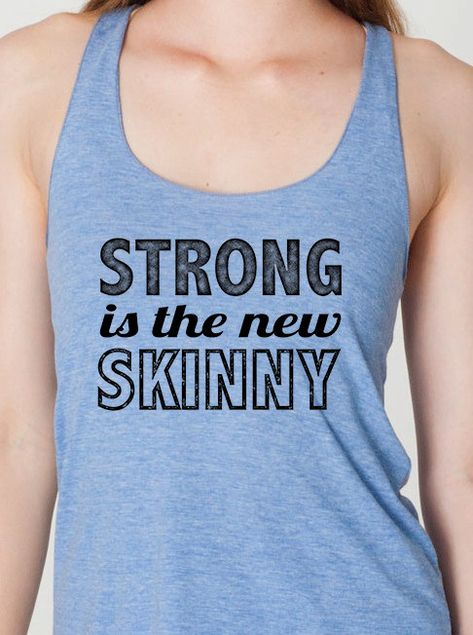 e5a04913f3c05 strong is the new skinny womens ladies racerback workout tank top american  apparel gym clothing black blue.  18.95