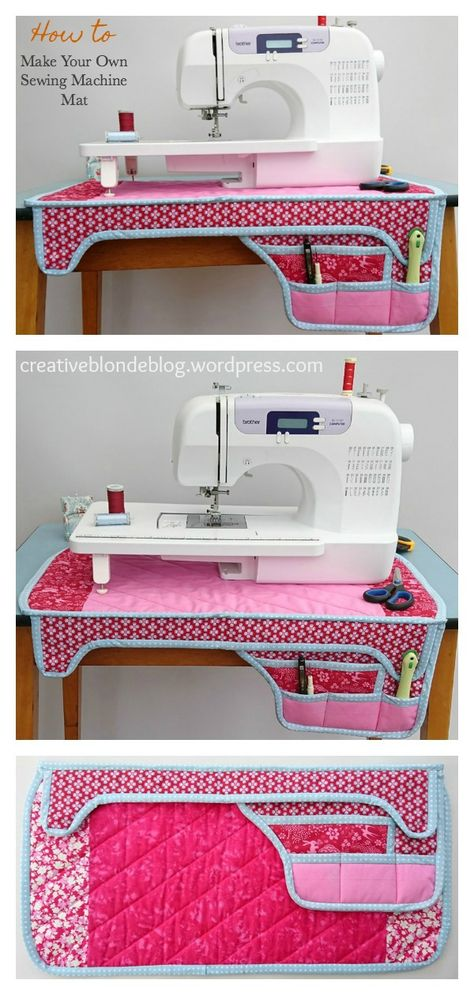 Sewing Techniques 505529126926818578 - Sewing Machine Mat Free Sewing Pattern Source by coolcreativity Sewing Lessons, Sewing Hacks, Sewing Tutorials, Sewing Crafts, Sewing Tips, Fabric Crafts, Sewing Ideas, Easy Knitting Projects, Sewing Projects For Beginners