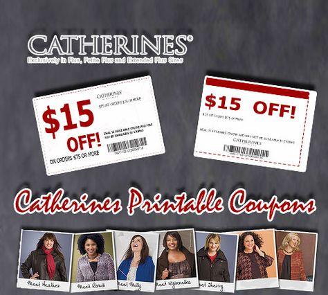 graphic regarding Catherines Printable Coupons called Justin Funderburk (justinfunderbur) upon Pinterest