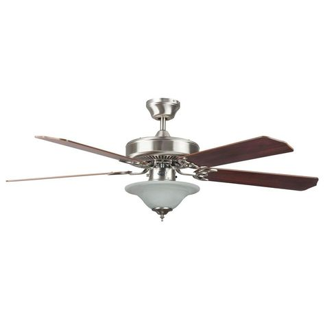 Radionic Hi Tech Nevaeh 52 In Stainless Steel Ceiling Fan With Light Kit And 5 Blades Stainless Steel Ceiling Fan Ceiling Fan Bowl Light