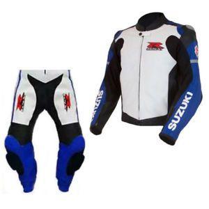 Suzuki GSXR Sports Motorcycle Leather Jacket Motorbike Racing Biker Jacket Armor