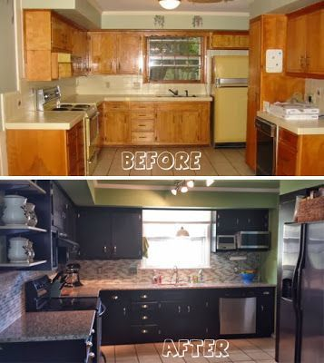 21 Inspiring Ideas For Black Kitchen Cabinets In 2019 Painting Kitchen Cabinets Kitchen Remodel Kitchen Paint