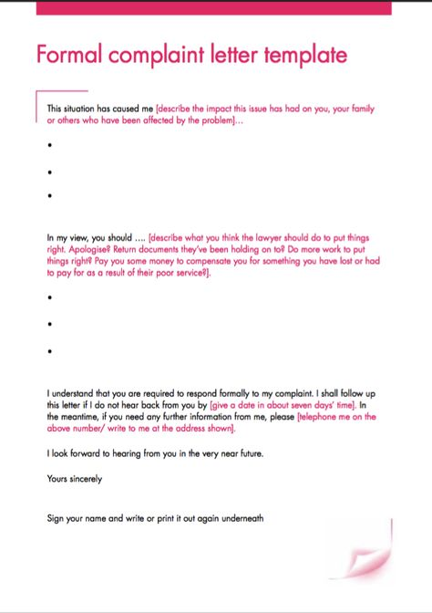 Formal Complaint Letter Template - http\/\/resumesdesign\/formal - sample harassment complaint form