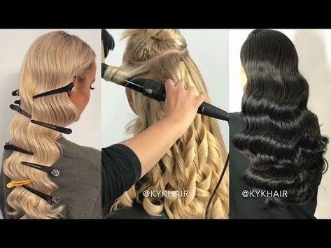 Youtube Vintage Hairstyles For Long Hair Vintage Waves Hair Waves Hair Tutorial