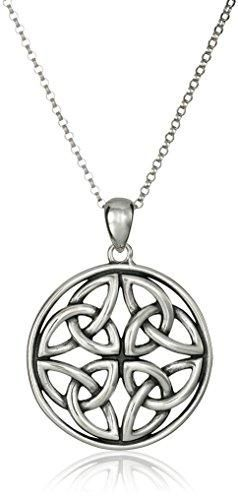 Amazon Collection Celtic Pendant Necklaces - Celtic Triquetra Trinity Knot / sterling-silver