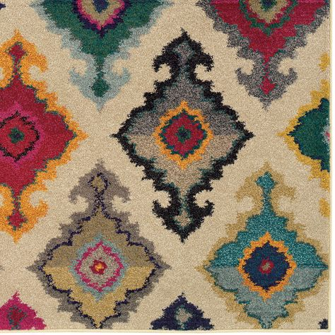 Kaleidoscope Afghan White Indoor Carpet Size From Thos. Baker