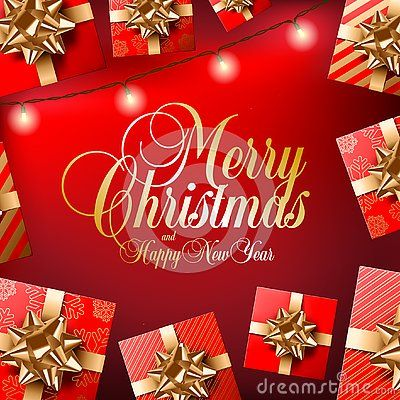 Golden Merry Christmas And Happy New Year Text On Red Background Happy New Year Text Merry Christmas And Happy New Year Merry Christmas