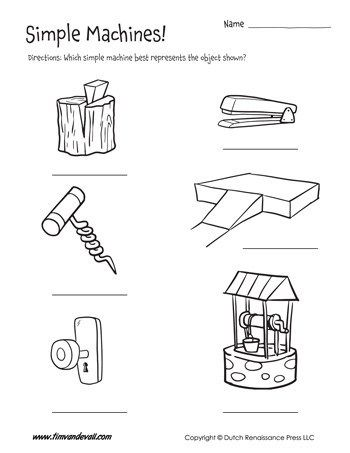 Simple Machine Examples Worksheet Tim S Printables I 2020 Mellanstadiet Forskola Teknik