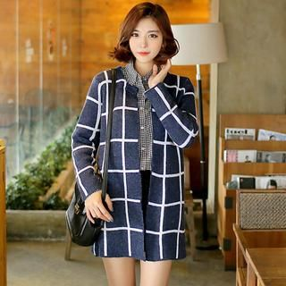 Open-Front Check Coat from #YesStyle <3 Envy Look YesStyle.com
