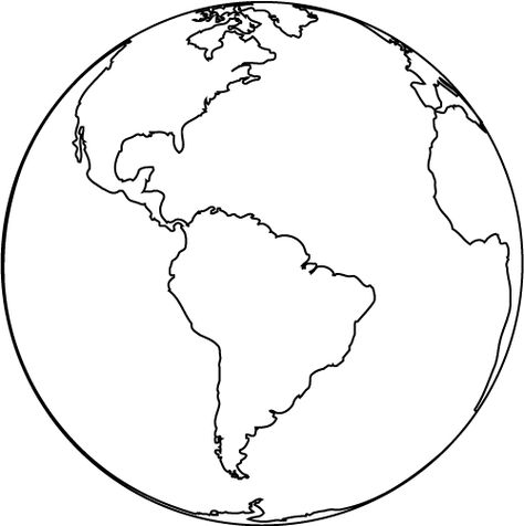 Globe Clipart Black And White Clipart Panda - Free Clipart Images - new black and white world map with continents labeled
