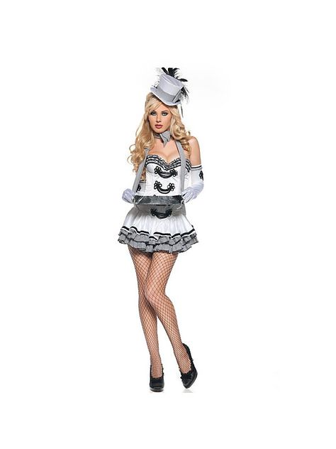 Costume Discounters Deluxe Adult Sexy White Cigarette Girl Costume  #halloween #sexycostumes #costumes