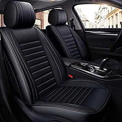 Amazon Com Cologo 5 Seats Pu Leather Car Seat Covers Waterproof And Ventilated Car Seat Cushions Easy Automotive Cute Car Accessories Leather Car Seat Covers