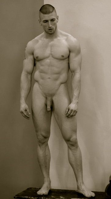Athlete nude male naked