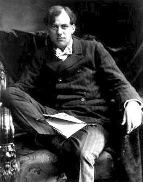 Aleister Crowley: weird... but interesting man.   btw, I love his tarot deck.
