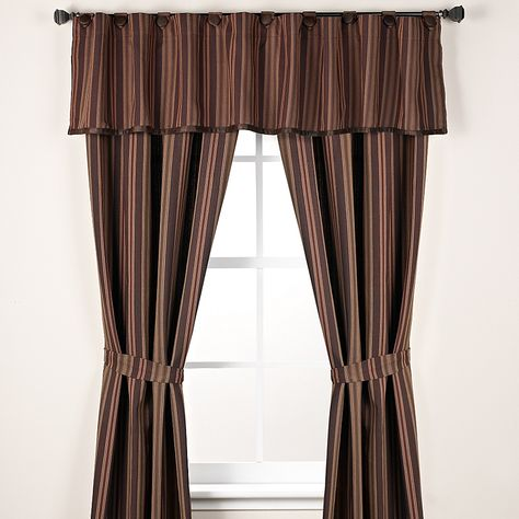 Hiend Accents Wilderness Ridge 2 Pack 84 Rod Pocket Window Curtain Panels In Brown In 2020 Panel Curtains Curtains Window Curtains