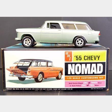 Amt 1955 Chevrolet Nomad Wagon 1 25 2555 1955 Chevrolet Scale Model Kits Model Kit