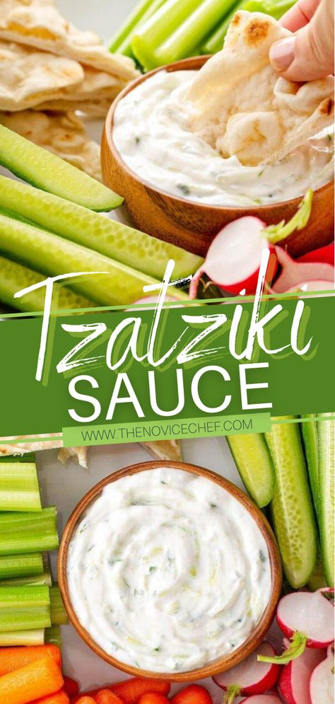 This easy food idea tastes amazing on just about anything! A few simple ingredients are all you need to whip up this healthy alternative to mayonnaise or ranch dressing. Once you try this authentic recipe for homemade Tzatziki Sauce, you will want to have it on game day!