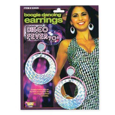 Adult 1970/'s Disco Fancy Dress Party Costume Accessory Jewellery Hoop Earrings