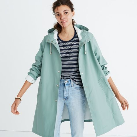 Cutest raincoat ever! I love the color and slightly a-line shape. Stutterheim® Mosebacke Raincoat in Seafoam from Madewell