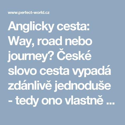 b40e608a0360 Anglicky cesta  Way