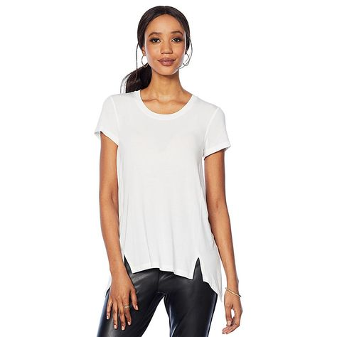 9bef8c5b4 G by Giuliana Fit and Flare Tee with Seaming - Black in 2019 ...