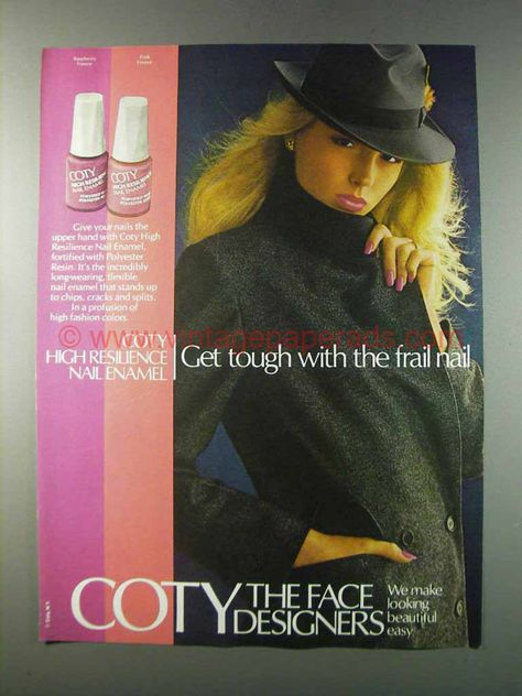 1981 Coty High Resilience Nail Enamel Ad - Pink Freeze