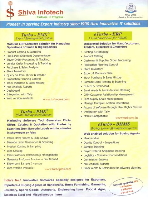 Turbo-EMS(Export Management System Software) India\u0027s No1 Innovative - sample sales tracking
