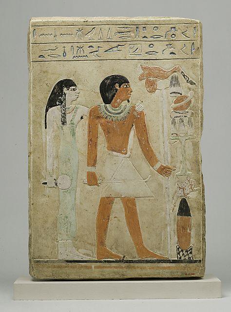 Stela of Dedu  Date: ca. 1981–1952 B.C.  Thebes, el-Asasif, Courtyard CC 41, Tomb R 8, Burials A x, MMA 1915-1916  Accession Number: 16.10.333