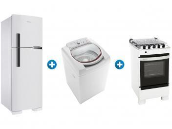 Refrigerador Lavadora De Roupas Fogao 4 Bocas Brastemp 110v