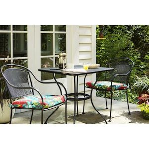 Garden Treasures Davenport Stackable Metal Stationary Dining Chair