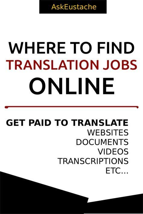 Online Translation Jobs: How & Where To Get Paid To