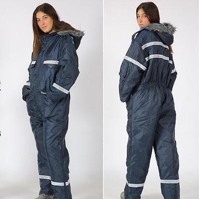 Men Womens IDF Navy blue Snowsuit Winter clothing Ski Snow suit One piece