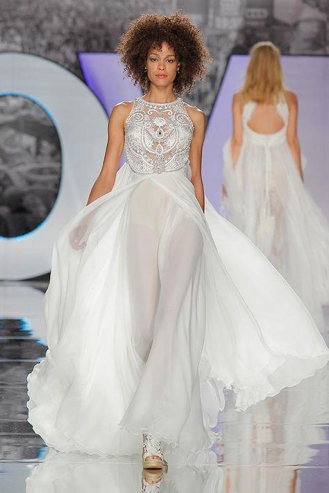 vestido de novia yolancris 2018 colección boho chic | desfiles