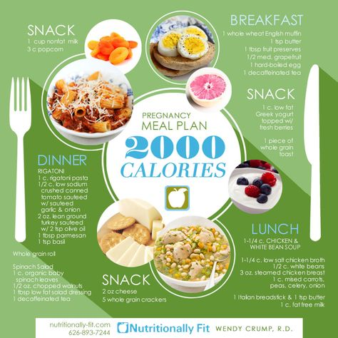 Pregnancy Meal Plan: A healthy mom to be makes for a healthy baby.  While some people think you can eat whatever you want when you are pregnant– healthy food choices are essential for a healthy baby.  Here's a sample 1 day meal plan by Wendy Crump, R.D. Want to learn more about meal plans? Contact Wendy! #nutrition #pregnancy #health