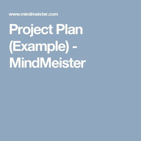 Project Plan Example  Mindmeister  Mindview    Mind