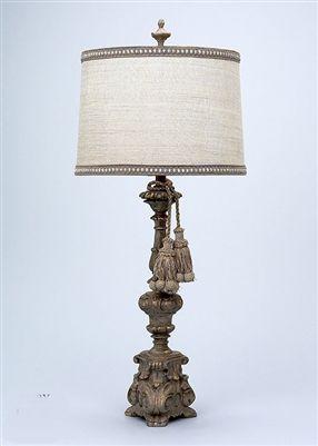 Gallery Designs Lighting Beige Metallic Silk Taupe Shade On