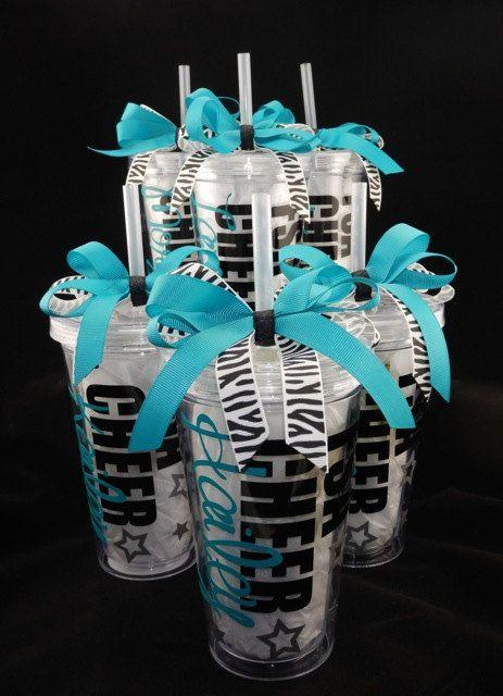 Deluxe Personalized Cheerleading Tumbler Cup by DanisCuties