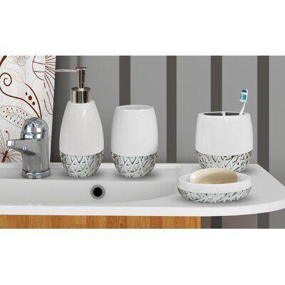 Stiltner 4 Piece Bathroom Accessory Set Bathroom Accessories Sets Bathroom Accessories Bathroom Countertops
