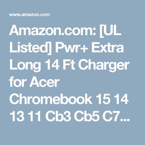 USA UL Listed 2Y Warranty Long Cord Flagship CB3-111 CB3-131 C720P C730E C731T C738T C810 C910 PA-1650-80 PA-1450-26 Pwr for Acer Chromebook Charger 15 14 13 11 Cb3 Cb5 C720 C740 R11 N7 Power Adapter