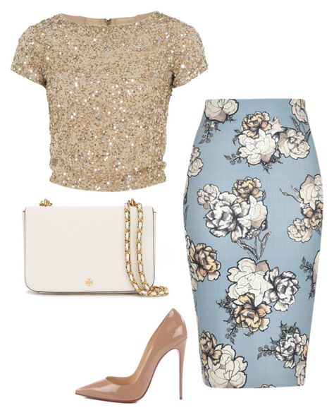 Untitled #1927 by mik0112 on Polyvore featuring polyvore fashion style Alice + Olivia River Island Christian Louboutin Tory Burch clothing