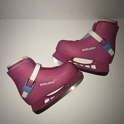 Advertisement Ebay Bauer Little Angel Youth Recreational Ice Skates Pink Bubblegum Size Y 10 11 Roller Hockey Skates Skate Boy Fun Sports