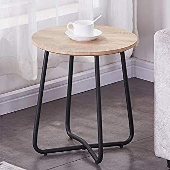 Vasagle Table Basse Ronde Plateau En Verre Trempe Armature Metallique Doree Table De Salon Bout De Cana En 2020 Table De Salon Bout De Canape Design Bout De Canape