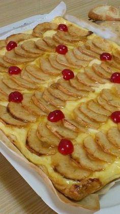 Tarta De Manzana Con Crema Pastelera Tartas Postres Caseros Tarta De Manzana